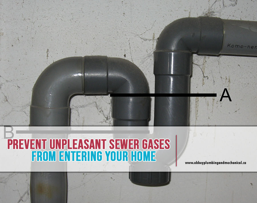unpleasant sewer gases
