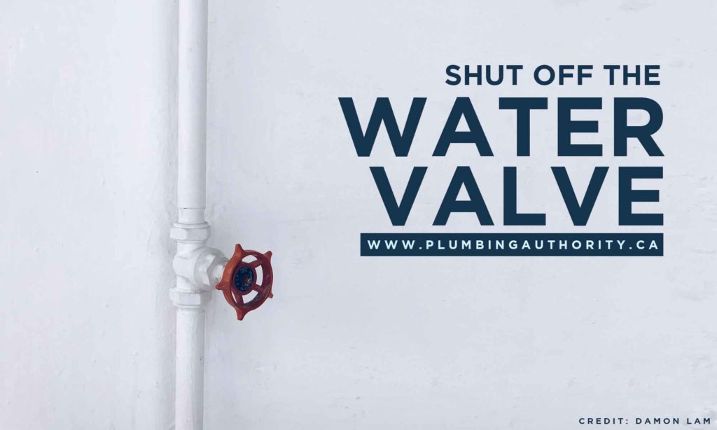 Shut off the water valve